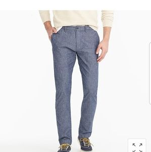 J. Crew Jeans - NWT J. Crew 484 Slim-fit pant in stretch chambray